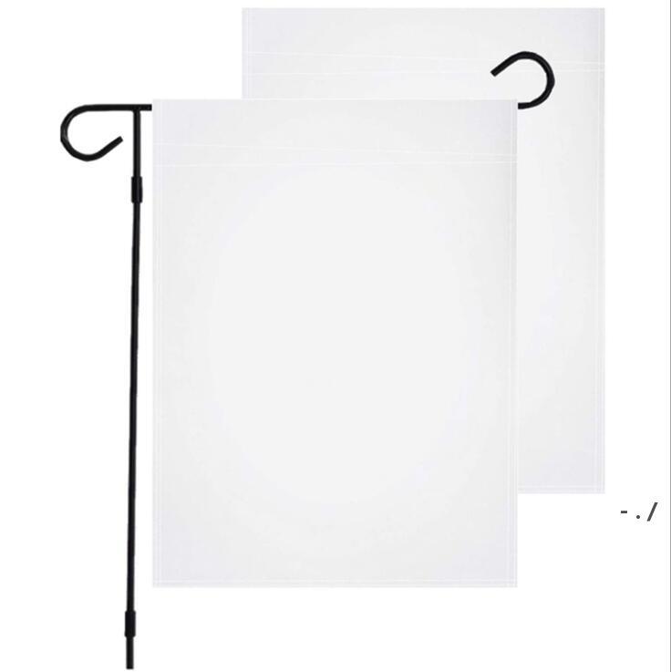 Polyester pouce Jardin suspendu pure extérieure Bwe5336 bannière décor pontee 12 * 18 drapeau sublimation blanc bricolage festival drapeaux domestiques