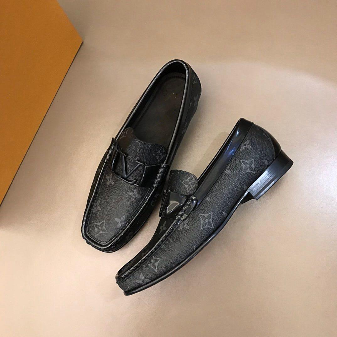 Yüksek Kaliteli Erkek Tasarımcılar Ayakkabı Güzel Platformu Sneakers High-end Klasik erkek İş Deri Ayakkabı Boyutu38-45