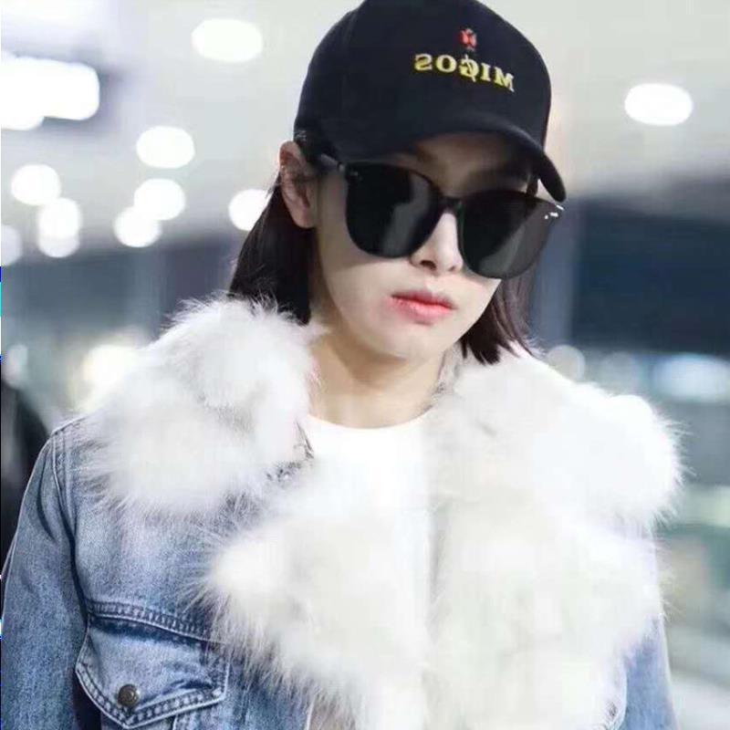 Victoria Song Star Polarized Lo stesso Wei Qi Korean Brand Brand Occhiali da sole Femminile GM con V Fashion 2021 New Trend Ohvua