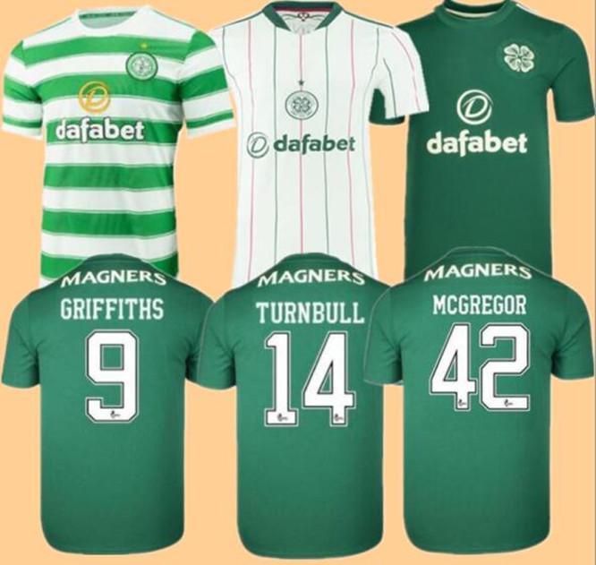 Celtic Soccer Jerseys Home Away McGregor Griffiths 2021 2022 Forrest Christie Edouard Elyounouss Terceiro Homens Kits Kits Futebol Camisas