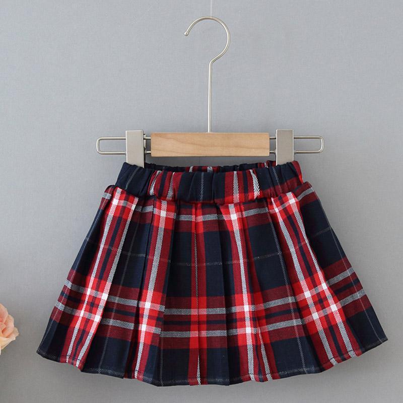 Kind FGirls Rock Herbst Kinder Kleinkind Kinder Baby Mädchen Plaid Print Elastic Taille Kurze Tutu Röcke Casual Falten
