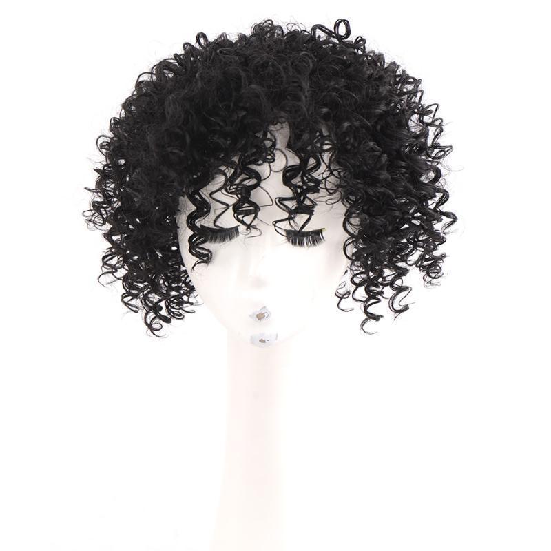 Parrucche sintetiche Houyan Parrucca pezzo, capelli corti ricci, pezzo di ricambio sulla testa, capelli piccoli femmina, senza soluzione di continuità, traspirante, soffice, bianco