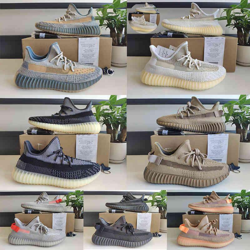 2020 Top Quality Mens Running Shoes Mulheres Corredor Esportes Sneakers Kanye West Creme Branco Zebra Abez Eliá Triple Black Oreo V2 caixa dupla