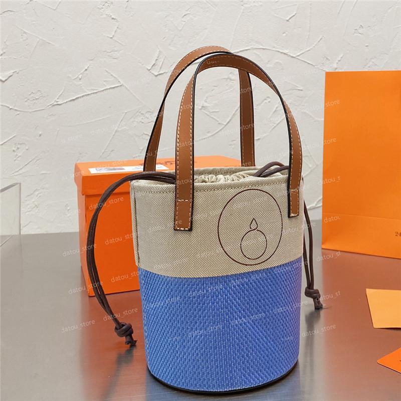 أزياء المرأة وودي أكياس دلو مصممين السيدات حقيبة الكتف إلكتروني h الصغيرة حقو حقو حقائب اليد المحافظ برميل حمل حقيبة يد لطيف