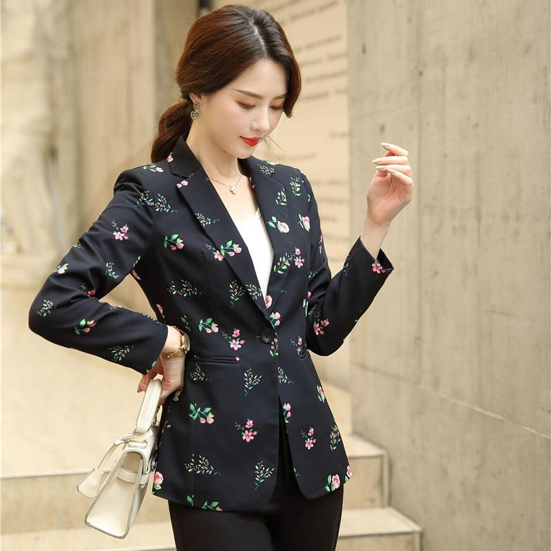 High Quality Casual Print Blazer For Women Jackets Work Wear Office Ladies Business Suits Women's & Blazers