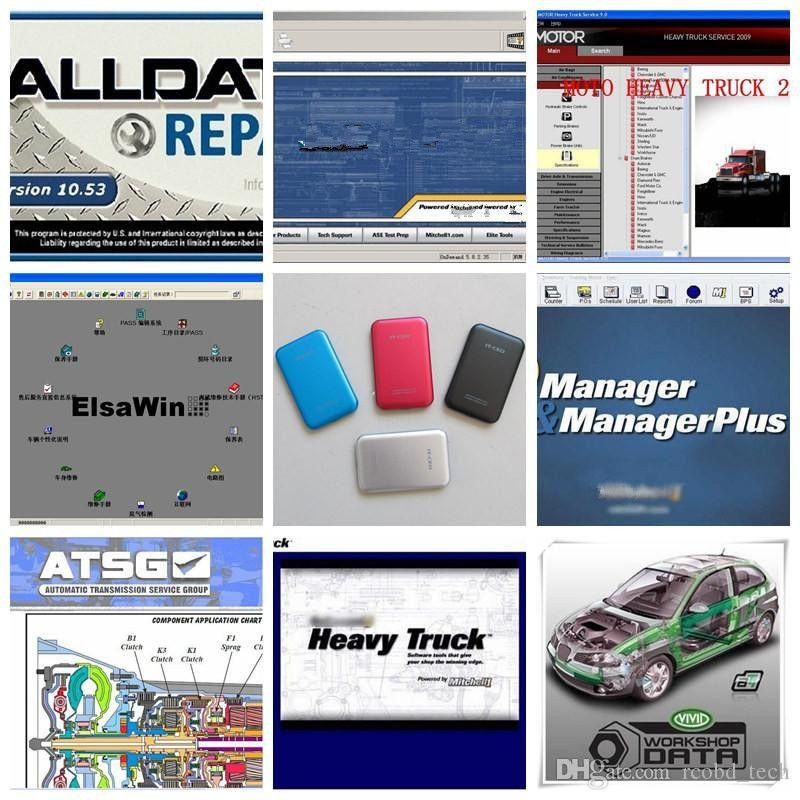 ALLDATA 10.53 Oto Tamir Aracı Yazılımı 49in1 HDD 1TB Manager Plus 5.9 Veri Araba Kamyonu Teşhis