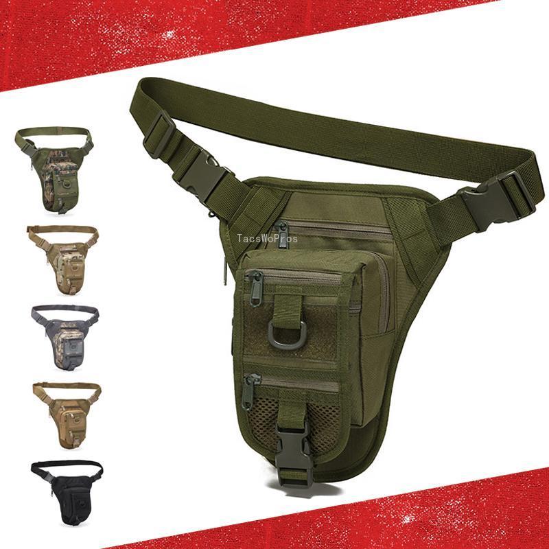 Sac de jambe tactique tactique réglable 800D Oxford Randonnée durable Escalade Sacs d'extérieur Sacs d'extérieur de l'armée Combat Chasse Taille de la taille