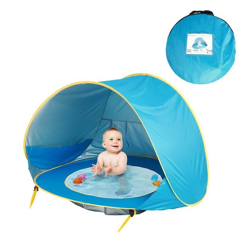 Baby Beach Tent الأطفال للماء حتى الشمس المظلة الأشعة فوق البنفسجية حماية البصالة مع بركة الطفل التخييم في الهواء الطلق الملحقات