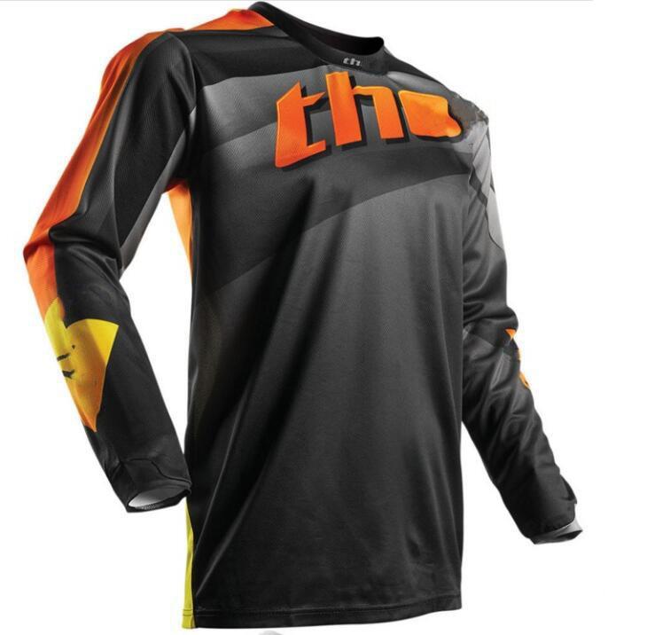 Motorrad Extreme Off-Road Racing Mountain Downhill Männer und Frauen Mode Persönlichkeit Rundhals Langarm Schnelltrocknen Kleidung Kann angepasst werden