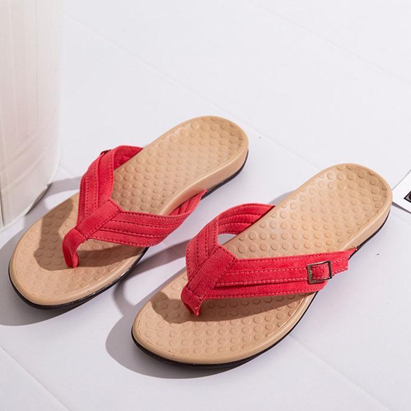 Zapatos casuales de verano Mujeres Sandalias de moda Flip Flops estilo Flats zapatillas sábanas plana plana D079