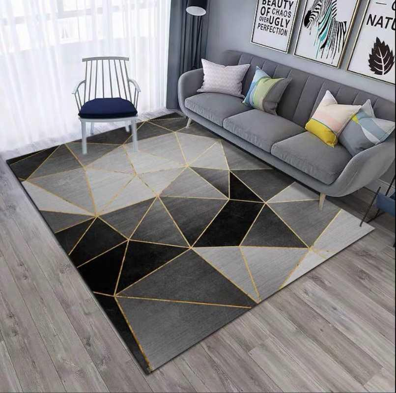 Teppiche Nordic Style Wohnzimmer Große Teppichbodenmatten mit einfachen Schlafzimmer mit Schlafsofa bedeckt