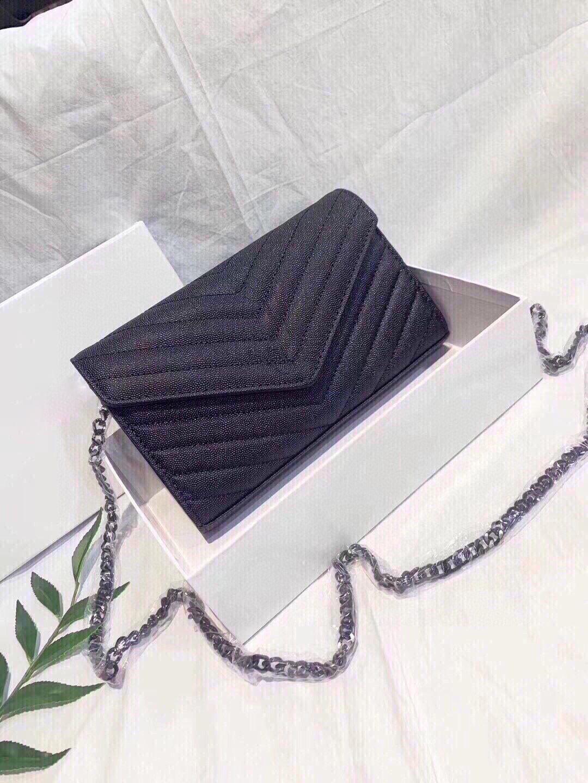 Busta con borse a tracolla superiore Caviale Borse a catena classiche Borse a tracolla di alta qualità Borsa a tracolla con scatola con scatola