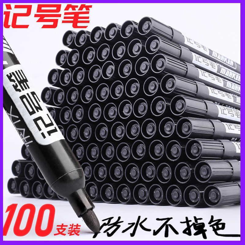 Pen Marker Black Big Head Oil Color Exprs Logistics Box Number Mike Note