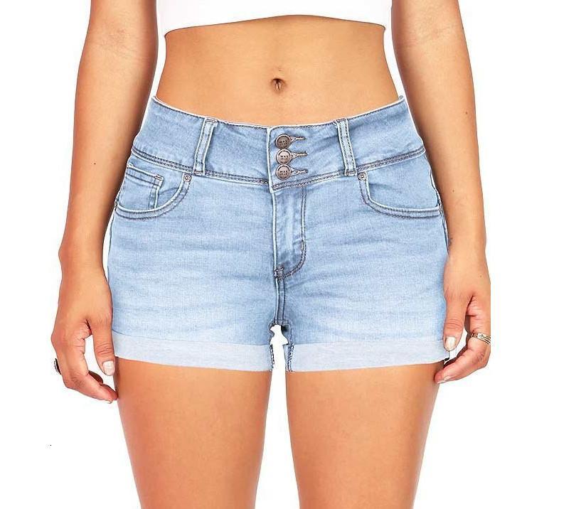 Nuevo pantalones cortos de dril de mezclilla multi.