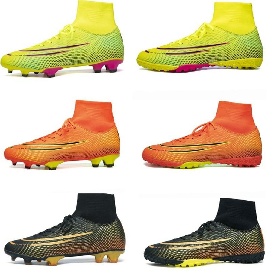 Novo Alto Par Longo Futebol Assassino C Romsey Treinamento Sapatos Juventude Estudante Adulto Grama TM9P