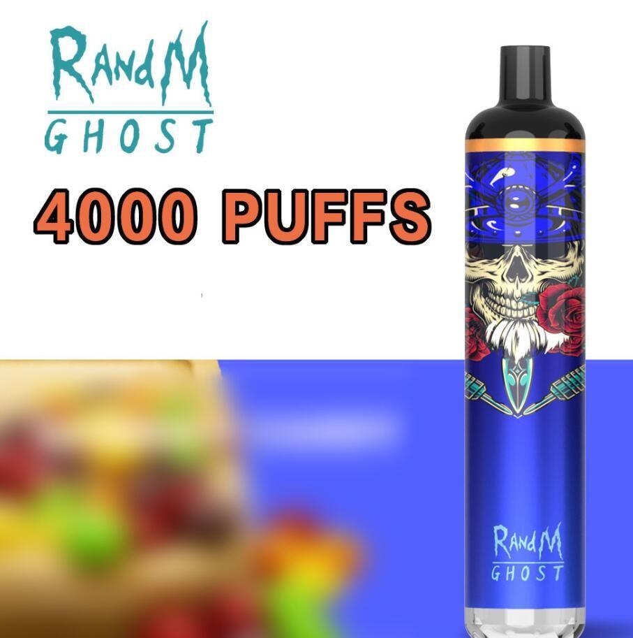 Фабрика оптом Randm Ghost одноразовые E сигарета с красочными огнями Ecig 4000puffs