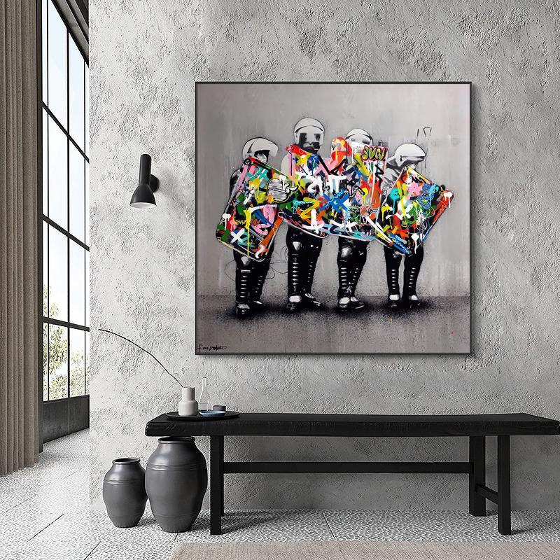 Soudage en toile Graffiti, affiches et empreintes pour murs de rue, peintures de décoration de la maison, peintures de salon
