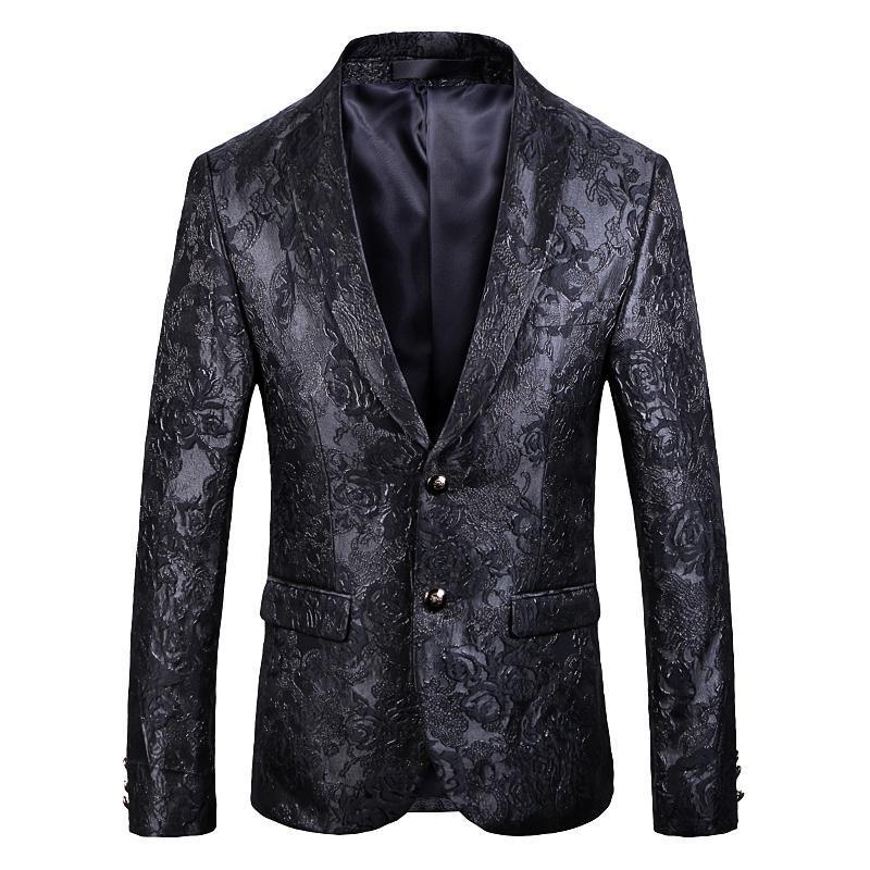 Men's Suits & Blazers 2021 The Gentleman Suit Club Costumes Dark Pattern DJ Singer