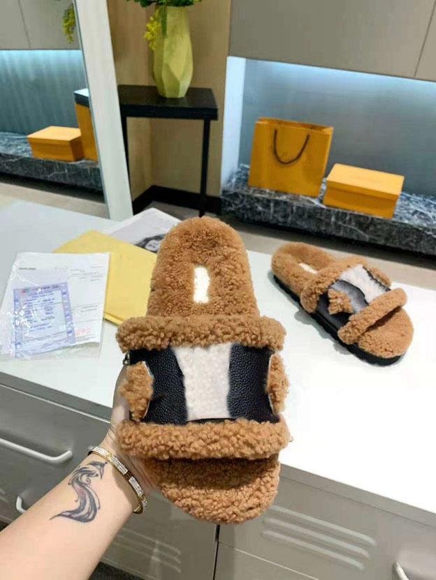 Diamond Designer di lusso Designer Indoor Home Pantofole da donna Agnello interno Agnello Sole Sole Sole Spiaggia 35-42