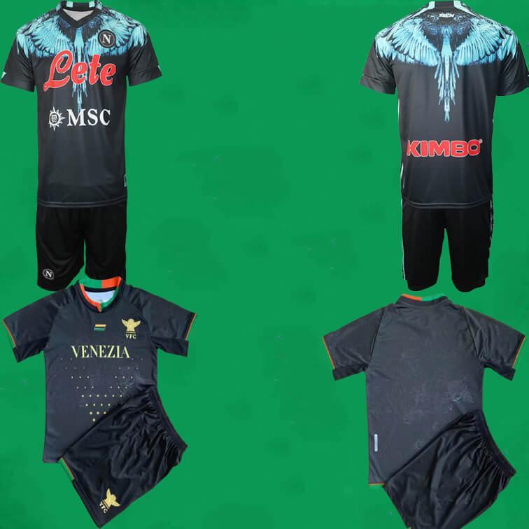 21 22 Venezia FC Fussball Jersey Shorts 2021 2022 SSC Napoli Football Kits Neapel Männer Outdoor Sport Uniformen MAILLOT DE FOOT