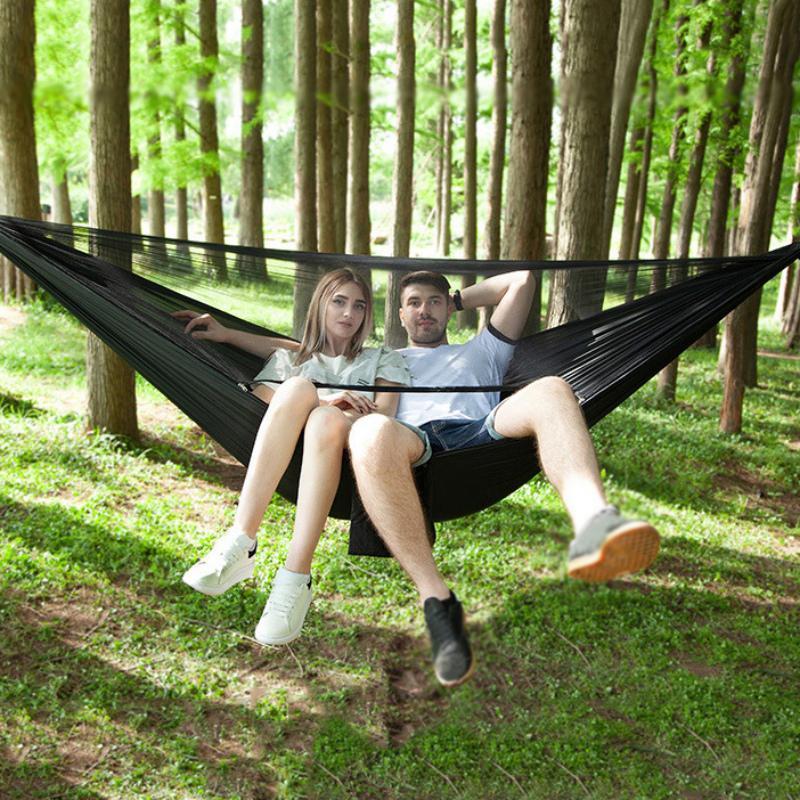 Hamaca de camping al aire libre 290 * 140 cm sola fácil de montar fácil de montar adecuado para muebles de campamento de viaje