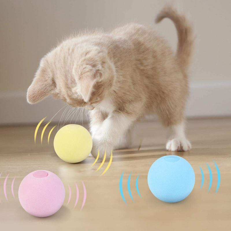 Cat Toys Smart Interactive Ball Catnip Training Toy Pet Kitty Playing With Squeaky Supplies Products For Cats