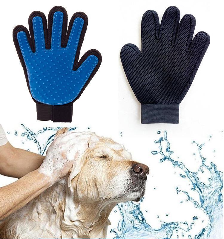 Gants en silicone Chats et chiens Outils de beauté Outils de nettoyage pour animaux de compagnie Fournitures de massage Fournitures peigne Pinceau d'épilation