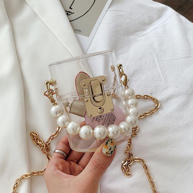 HBP Mini Acrílico Womens de Alta Qualidade Transparente Crossbody Bag Feminino Luxurys Designers Pérola Bolsas Cadeia Mensageiro Mensageiro Bolsa