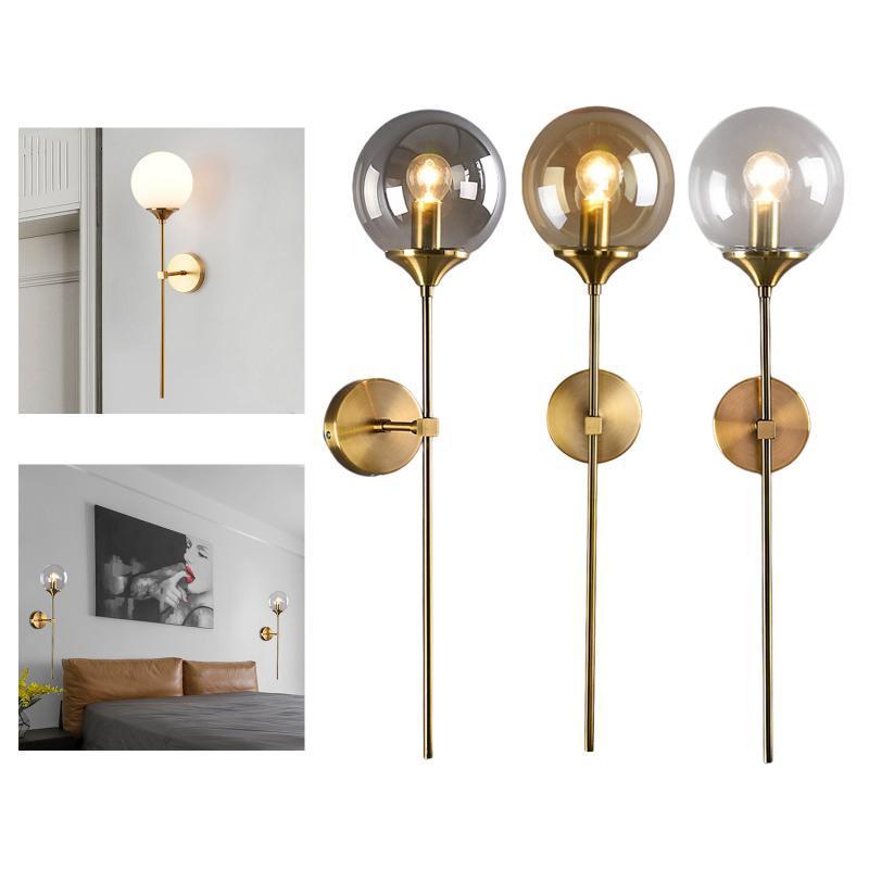 산업 금 벽 Sconce 조명 현대 실내 침실 조명 거실 복도 라이트 램프를위한 등불