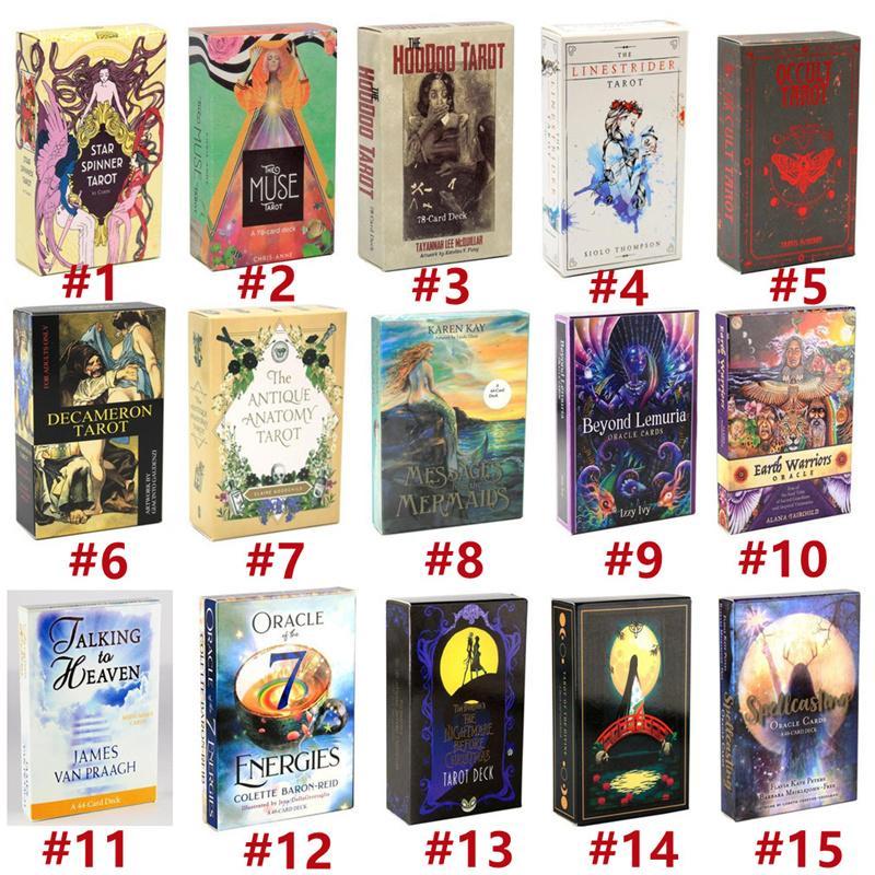Tarot del Fuego Karten E-GuideBook Spiel linarker Träume Spielzeug Göttungsstar Spinner Muse Hoodoo Okkulte Fahrt