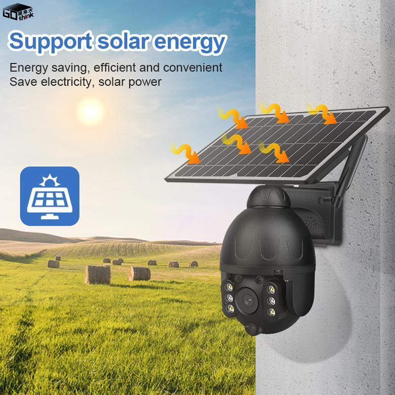 في الهواء الطلق حالة المعادن الشمسية واي فاي كاميرا الأمن اللاسلكية للانفصال كام بطارية CCTV PIR مراقبة الفيديو كاميرات IP الهاتف