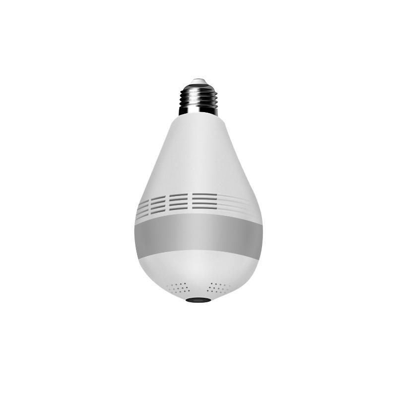 360 градусов светодиодный свет 1080P беспроводной панорамный панорамный домашний WiFi CCTV Fisheye лампа лампы IP-камера два способа аудиокапла