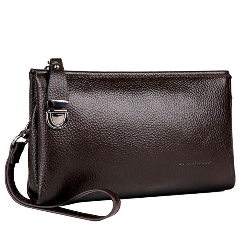 Grande carteira de couro genuíno carteira homens saco de embreagem macio vaca longa titular de cartão artesanal bolsa masculina carteiras