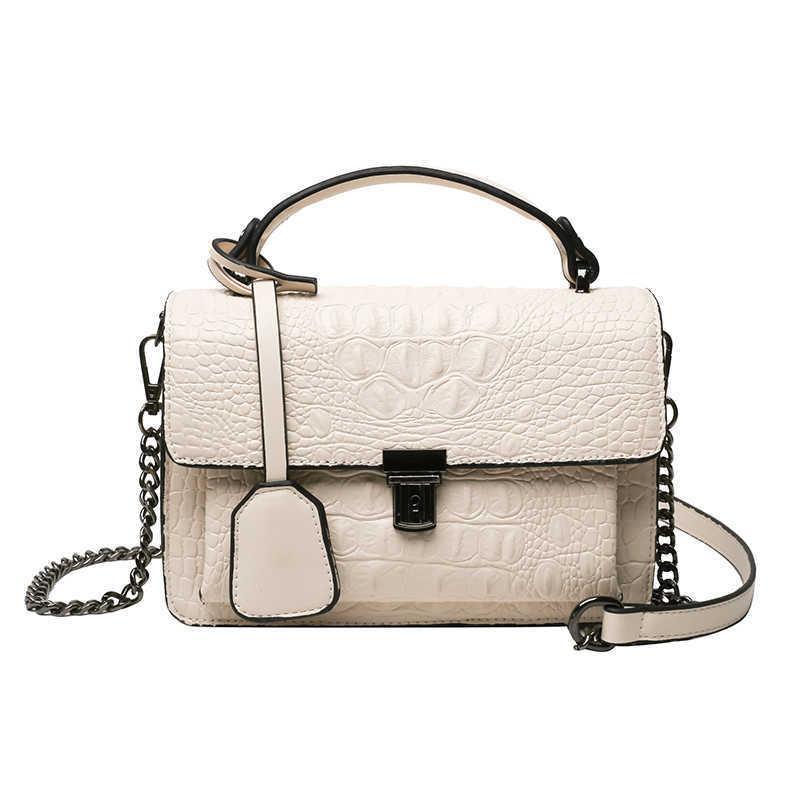 2021 Luxusdesign Frauen Leder Handtaschen Krokodil Muster Frauen Umhängetaschen Weibliche Crossbody Taschen Frauen Kleine Taschen C0602
