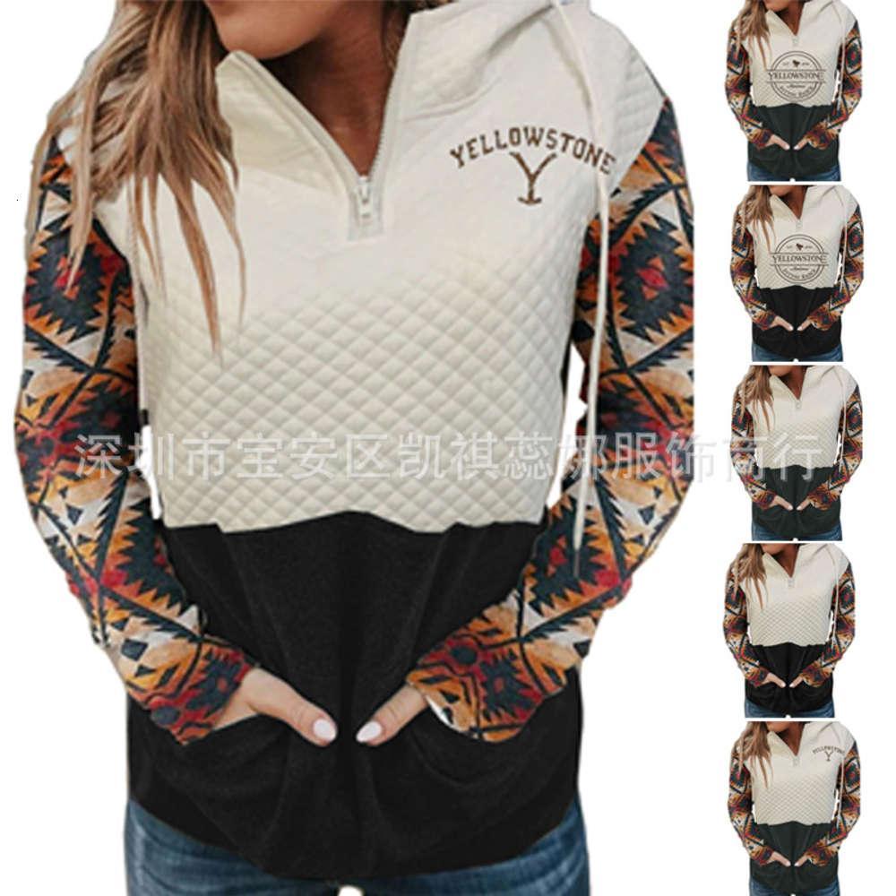 Толстовки для толстовки на молнии с длинным рукавом с капюшоном напечатаны женская верхняя одежда для осени и зимы 2020