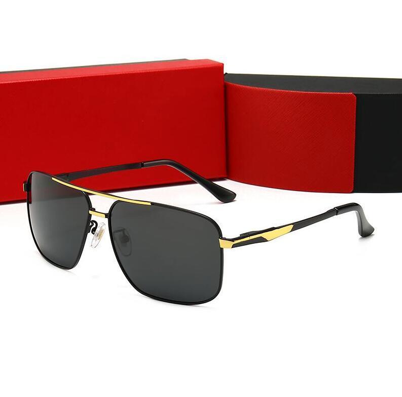 جودة عالية رجل مصمم نظارات شمسية بدون شفة مطلية بالذهب مربع الإطار المرأة نظارات الشمس نظارات موضة مع حالة 4 ألوان اختياري