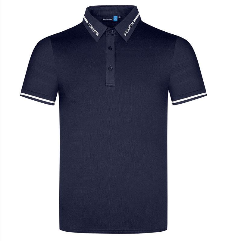 الصيف تي شيرت قصيرة الأكمام جولف قمصان 4 لون الرجال الملابس التجفيف السريع النسيج في الهواء الطلق الرياضة الترفيه قميص