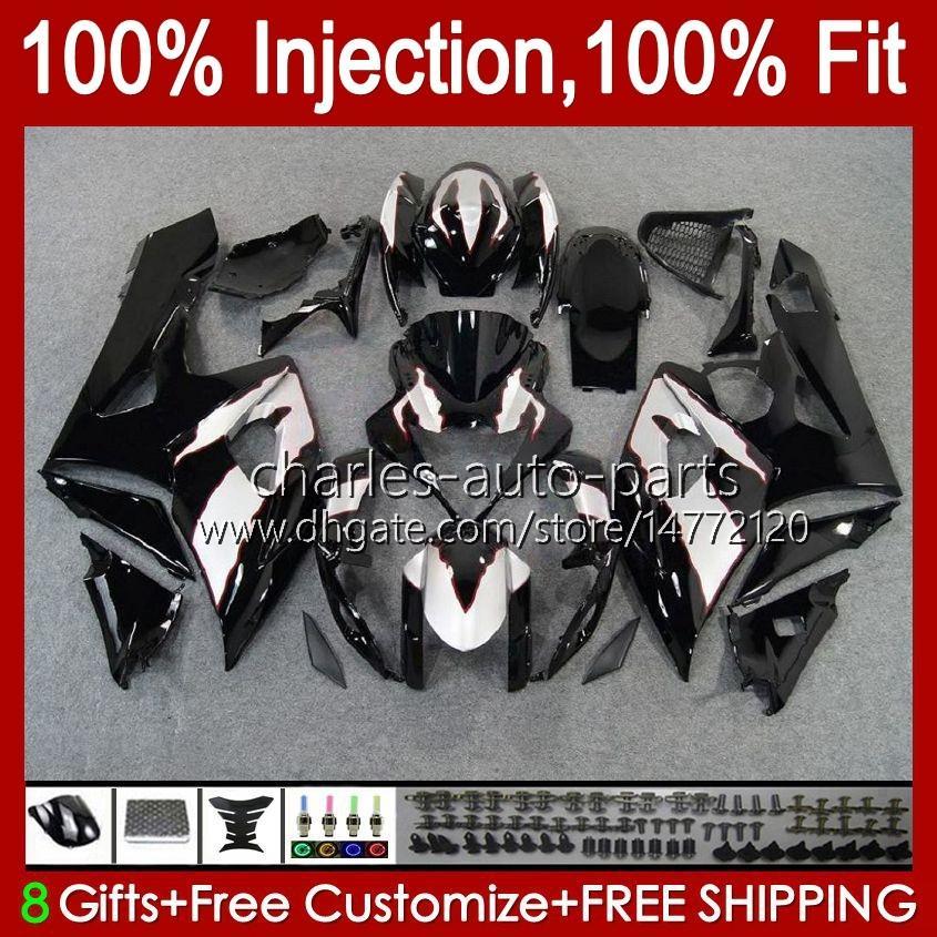 Vücut + SUZUKI GSXR-1000 GSXR 1000 05 06 KUTUSU GSXR1000 05 06 K5 GSXR1000 05 06 K5 GSX R1000 05 06 K5 GSX R1000 Black Silvery 2005 2006 Fairing Kiti