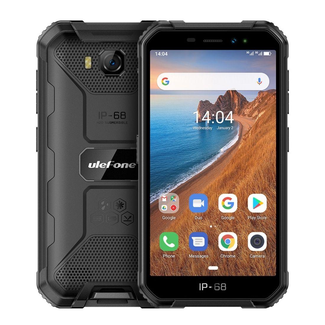 Ulefone armadura x6 telefone robusto, 2GB + 16GB de identificação de rosto, bateria de 4000mAh, 5.0 polegadas android 9,0 MTK6580A / W quad core até 1.3GHz