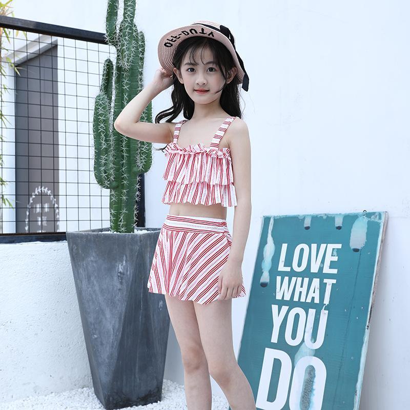 두 조각 수영복 아이 키키니 아이 여자 아기 수영복 어린이 융합 rashgard 2021 스커트 깨진 qmib 디자이너 옷
