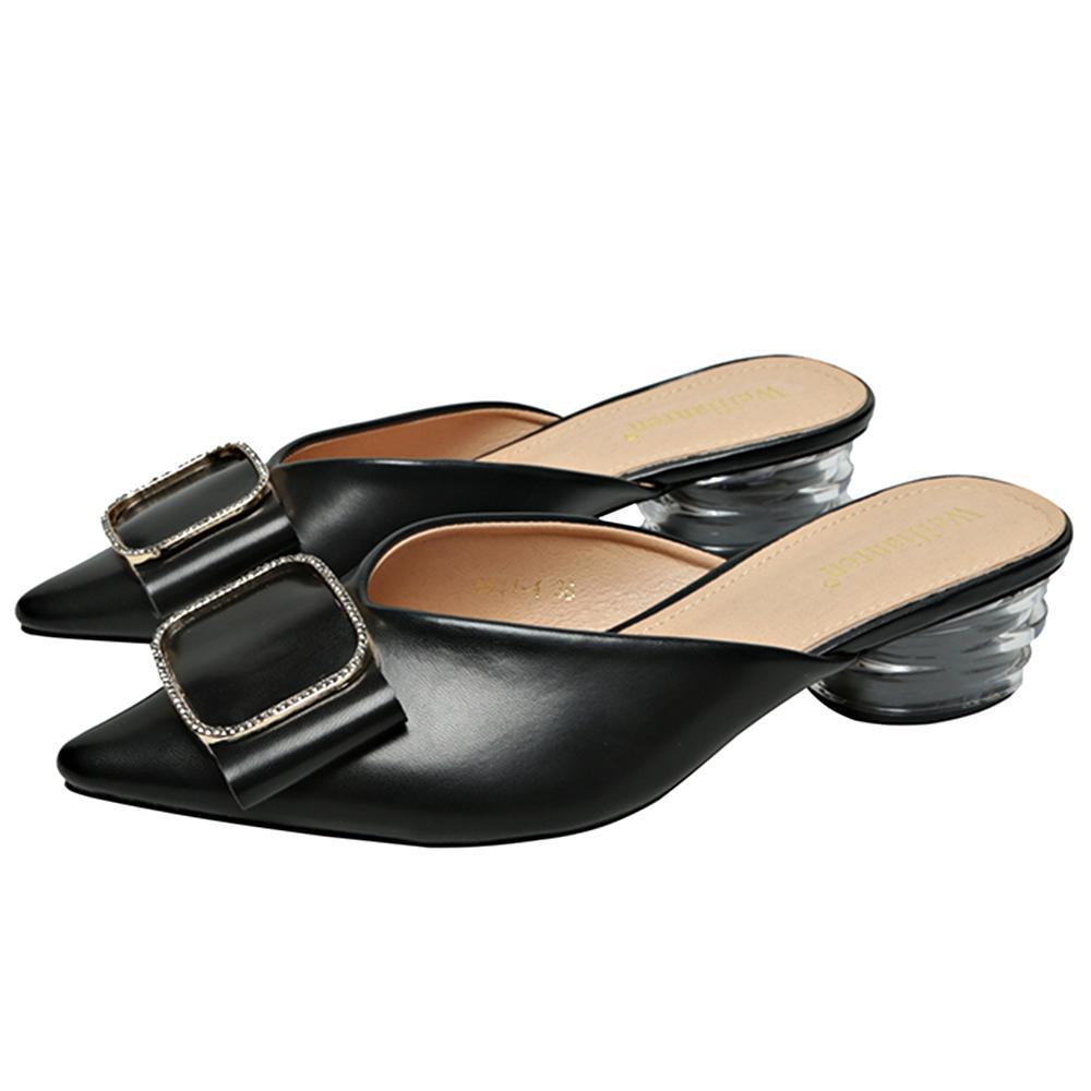 Famtiyaa Katmanlar Ayakkabı Bayanlar Slaytlar Lüks Moda Sivri Burun Terlik Kadın Yaz Kadın Ayakkabı Ev Açık