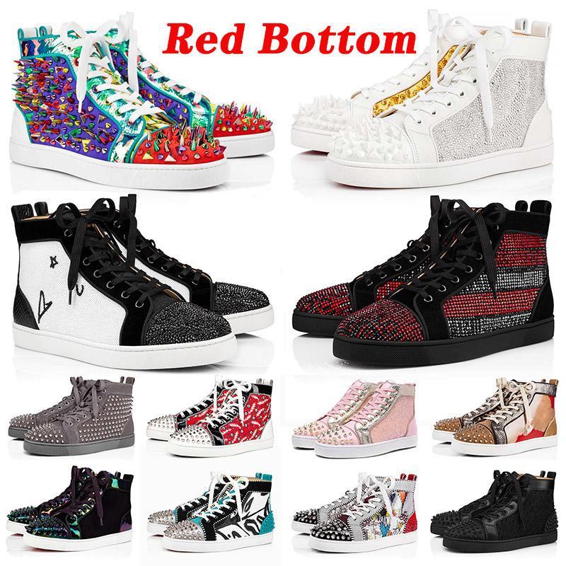 مع مربع أحذية desinger Red Bottoms Platform Studded Spikes loafers Red Bottom Designer  أحذية رياضية فاخرة ماركة أحذية رياضية مقاس أمريكي 13 حذاء كاجوال 47 يورو