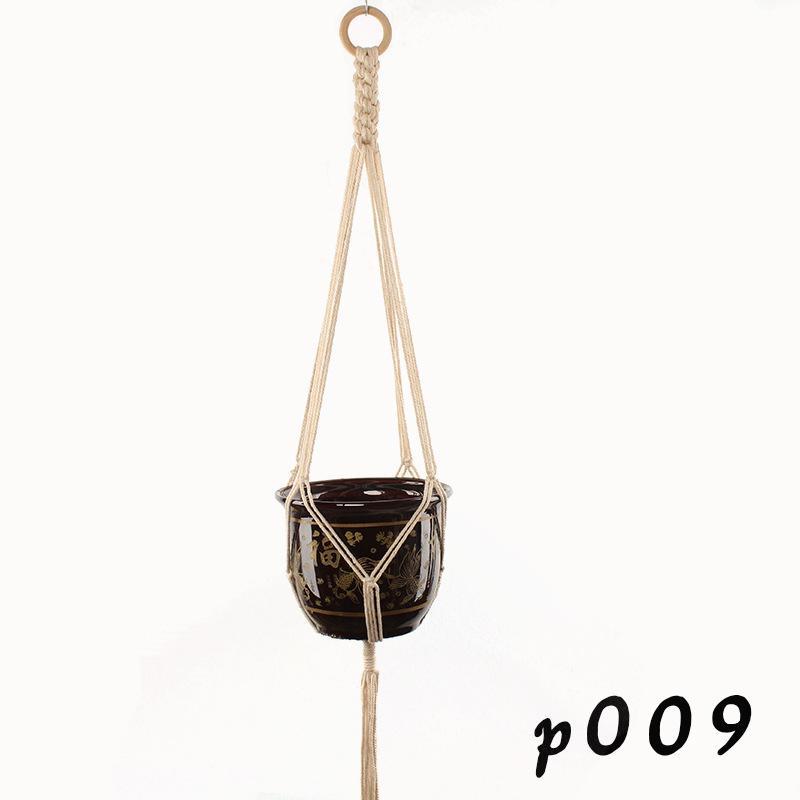 شماعات مصنع مكرر زهرة الأواني حامل حبل مضفر شنقا الغراس سلة المنزل الإبداعية حديقة ديكور 8 تصاميم GWE7052