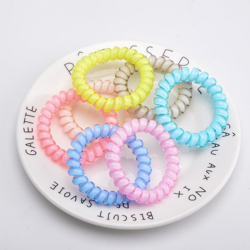 27 Cores Moda Linha Telefone Elastic Hair Bands Cabelo Primavera Borracha Cabelo Corda Laços Para Mulheres e Crianças DHL 225 Z2