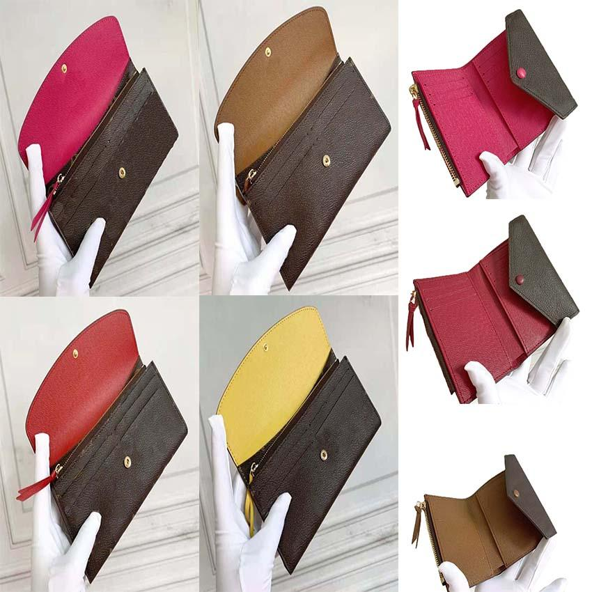 Frau Designer Taschen lange kurze Brieftasche Geldbörse Frauen Original Tasche Hohe Qualität Mode Brieftaschen 000