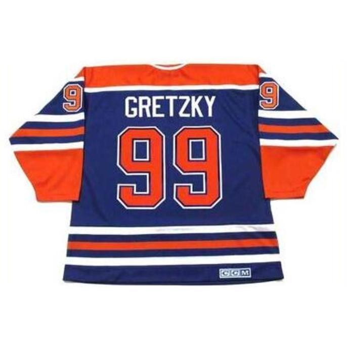 Custom Bay Youth Femmes Vintage # 99 Wayne Gretzky Edmonton Oilers 1987 CCM Hockey Jersey Taille S-5XL ou personnalisée N'importe quel nom ou numéro