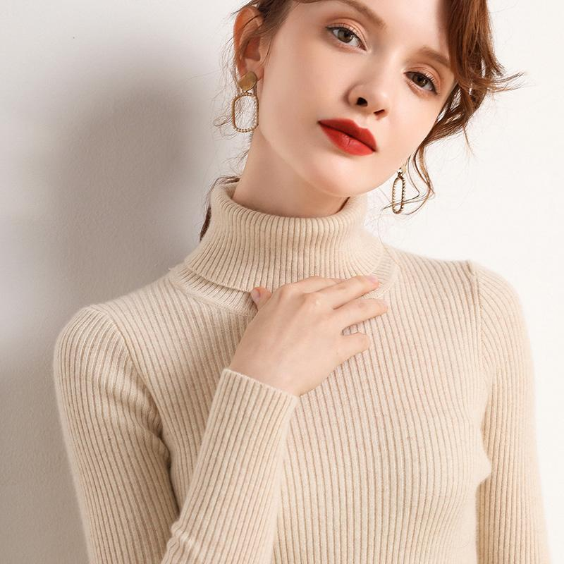 Nur plus Winter Kaschmir High Collar Pullover Frauen Pullover Mode Casual Slim Solid All-Match Swater Tops Frauenpullover