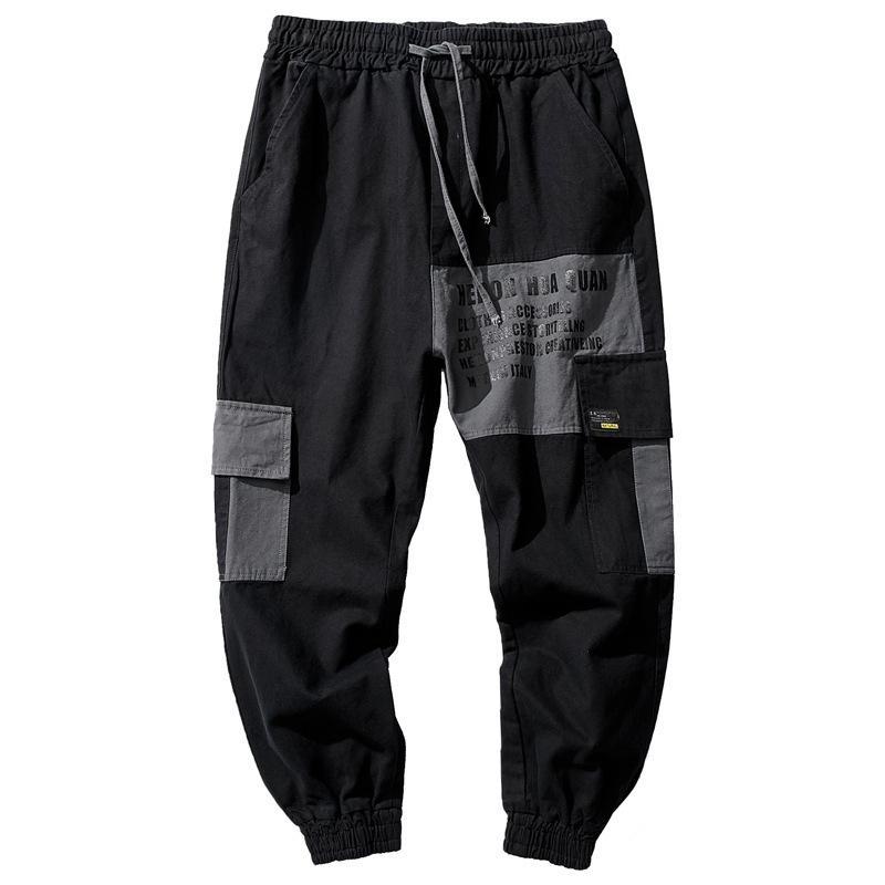 Marca Carga Macacões Outono Novo Patching Leggings Versão Coreana Masculina Fashiontj5e