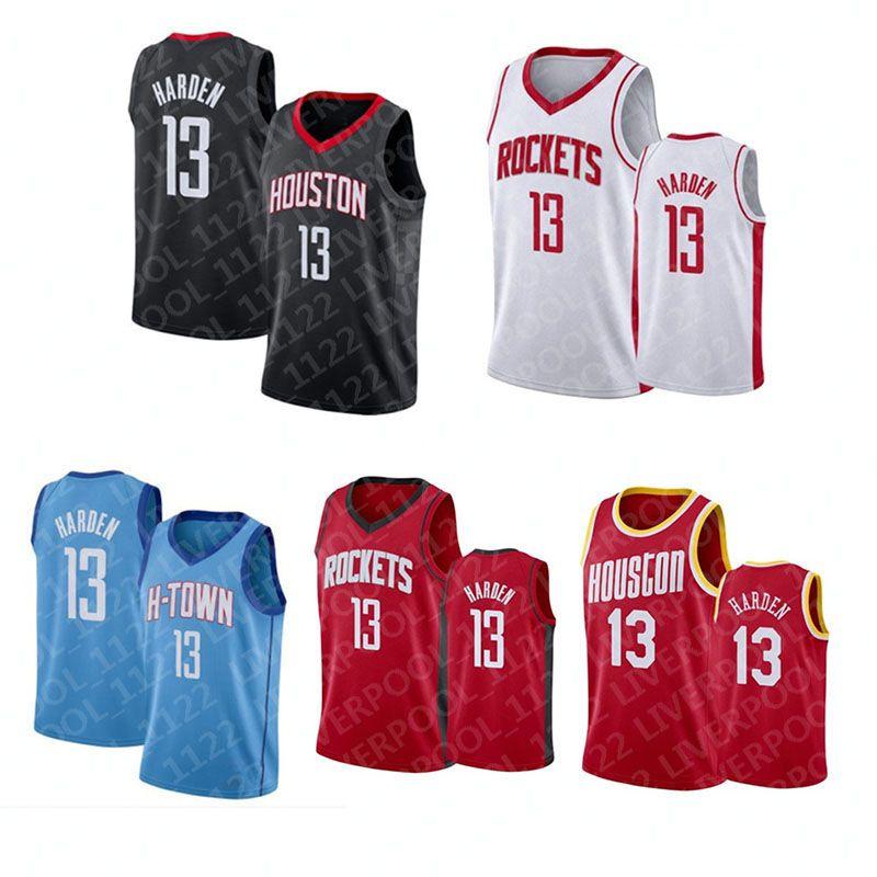 2021 Jersey Basketball HoustonRocket Mens John 1 Wall James 13 Harden Hearen Hakeem 34 olajuwon maille rétro violet