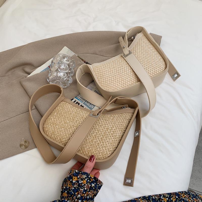 Evening Bags 2021Summer Straw Shoulder Crossbody Women Bohemia Weave Casual Handbag Women's Luxury Fashion Beach Armpit Bag Purses